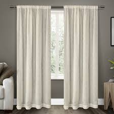 amazon com exclusive home curtains belgian textured linen look
