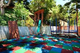 Kid Backyard Ideas Kid Friendly Backyard Use Playground Tiles Kid Friendly Small