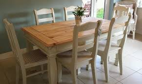 Shabby Chic Farmhouse Pine Table With Drawers And  Chairs In - Farmhouse kitchen table with drawers