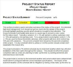 Project Reporting Template Excel Project Status Report Template 8 Free Documents In Pdf