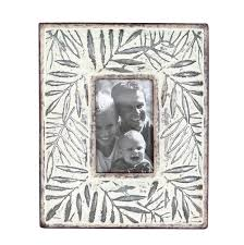 foreside home u0026 garden 4x6 etched leaf frame small