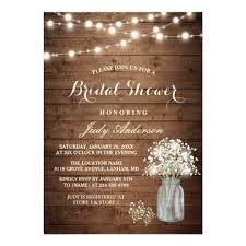 Mason Jar Bridal Shower Invitations Bridal Shower Invitations Zazzle