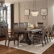 coaster 105731 set carlsbad 9 pcs dark brown dining table set