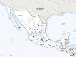 Map Mexico States by Download Map Of Mexico With States And Major Cities Major