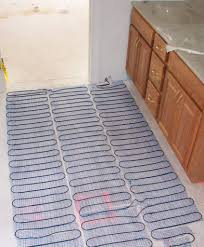 flooring heated bathroom floor how much does radiant heating