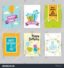 graphic design birthday invitations greeting card banner birthday invitation social stock vector