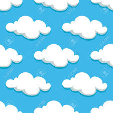 white clouds and sky seamless pattern on background