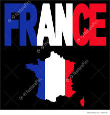 france map and flag text illustration