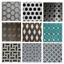 Perforated Metal Sheet Decorating Panels Within Decorative Screen