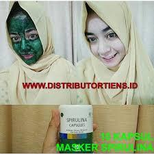Masker Spirulina Per Butir masker spirulina tiens 10 kapsul wajah cerah kencang putih