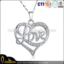 custom heart necklace 2015 top selling custom heart shaped sweet beautiful gift