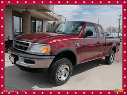 1998 dark toreador red metallic ford f150 xl supercab 4x4