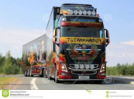 volvo trucks singapore volvo show truck tutankhamun on the road editorial stock image