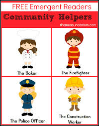 free community helpers emergent readers the measured mom