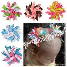 korker ribbon children s baby curlers ribbon hair bows flowers corker hair