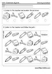 classroom objects worksheets buscar con google nz pinterest