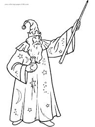 wizard coloring printable version