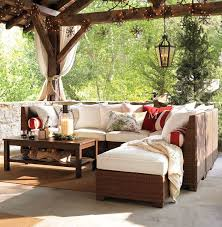 Pottery Barn Patio Table Living Room Palmetto All Weather Wicker Sectional By Pottery