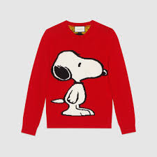 gucci snoopy tiger stripe sweater in for lyst