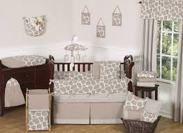 Animal Print Crib Bedding Sets Giraffe Print Baby Crib Bedding Set 9pc Nursery Collection Taupe
