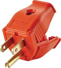 leviton 003 3w101 0or 2 pole 3 wire grounding plug orange ebay