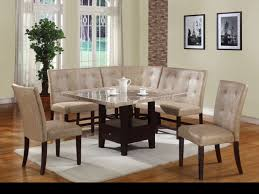 white dining bench lovely eatin kitchen is filled with a builtin