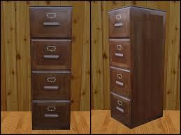 black wood file cabinet