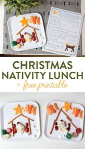 the christmas story nativity lunch and free printable by free