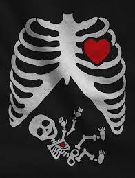 halloween pregnant xray skeleton baby boy pregnancy maternity tank