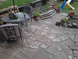 concrete patio ideas backyard recycled concrete patio my re use projects pinterest