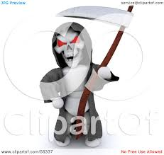 royalty free rf clipart illustration of a 3d evil white
