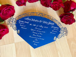 where to get wedding programs printed beauty and the beast inspired wedding program fan custom