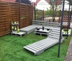 Garden Coffee Table Furniture Simple Diy Garden Furniture Pallet With Grey Coffee