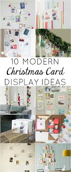 christmas card display holder 10 modern ways to display your christmas cards design improvised
