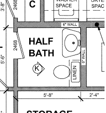 add a half bath in the basement someday tiny half bathroom layout