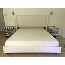 wingback bed in zuma white skyline furniture free shipping