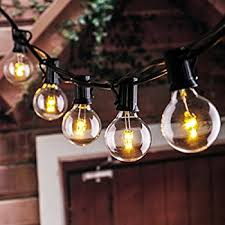 25ft led g40 string lights with 25 led warm globe