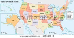 map of us federal states usa map federal states including alaska stock vector 569562640