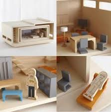 Modern Doll House Furniture by Modern Dollhouse Wooden Sustainable Diy Modular Toy For