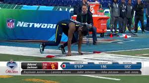 adoree jackson 2017 nfl combine 40 yard dash u0026 all drills nfl