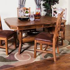 sunny designs 1151ro sedona extension table with double butterfly