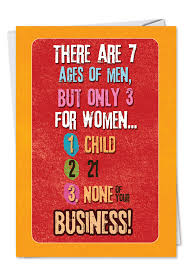 3 ages of women funny birthday greeting card nobleworks