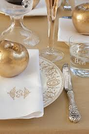 Table Setting Cards - sparkling thanksgiving table setting southern living