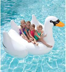 Floating Pool Lounge Chairs Giant Inflatable Swan Pool Float In Water U0026 Pool Toys