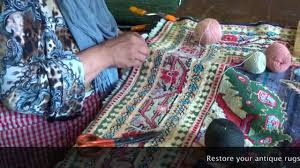Rug Restoration Antique Rug Restoration At Carpet Culture Youtube