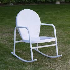 Rocking Folding Chair Coral Coast Vintage Retro Steel Single Rocker Hayneedle