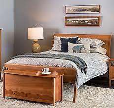 Cherry Wood Sleigh Bed Pompanoosuc Mills