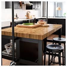free standing kitchen cabinets with countertops ikea vadholma kitchen island black oak 49 5 8x31 1 8x35 3 8