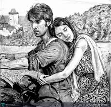 10 incredible art works depicting your favorite bollywood movie scenes
