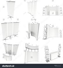 Pop Up Reception Desk Trade Show Booth Set Rollup Popup Stock Illustration 418538713